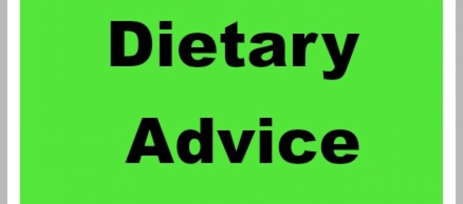 Diertary advice